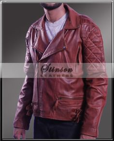 Classic Diamond Motorcycle Waxed Brown Leather Jackety The Classic Diamond Motorcycle Waxed Brown Leather Jacket is one of the best selling product Designed with creativity by our team of hardworking designers, This Brown WaxedJacket reflects...