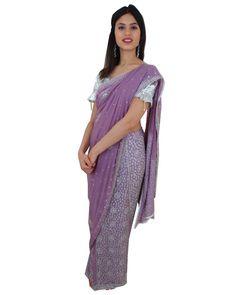 En Stock Sari Bollywood Lavande et jaune Tenue de mariage Saree perlé   #NarkisFashion #Saree #Sarimariage