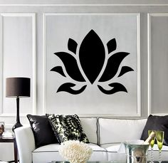Vinyl Wall Decal Lotus Flower Buddhism Hinduism Yoga Stickers - Animalsbirds And Butterfles Wall Vinyl Decal Bathroom Wall Vinyl Decal Home Vinyl Wall Decal Lotus Flower Buddhism Hinduism Yoga Stickers Unique Gift Ig Click Or Scroll To Zoom Tap Or Pinch # Lotus Flower Buddhism, Lotus Flower Mandala, Lotus Flowers, Diy Flowers, Flower Wall Decals, Vinyl Wall Decals, Wall Stickers, Home Wall Art, Wall Art Decor