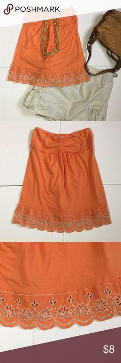 "🆕Listing: Hollister Orange Strapless Summer Top Hollister Orange Strapless Summer Top. Size M measures flat: 12-16"" across top, 20"" long. 100% cotton. 409/25/042317 Hollister Tops"