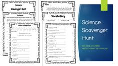 Get your students excited about science by sending them outdoors on a science scavenger hunt! The concepts and vocabulary for this activity were taken from second grade Next Generation Science Standards. Instructions prompt students to find the items on a list, such as a seed, a mineral, or something an animal needs, and collect evidence of their finds either in baggies or by making drawings as indicated on the scavenger hunt sheet.