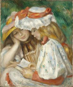https://www.flickr.com/photo.gne?rb=1&short=qMaXMv&utm_content=buffer192d0&utm_medium=social&utm_source=pinterest.com&utm_campaign=buffer | Two Girls Reading by French painter Auguste Renoir