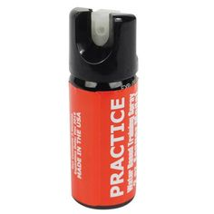 2 oz Inert Fogger, They are pressurized with nitrogen. Their purpose is to be used as a practice spray instead of wasting a real pepper spray. They will enable the user to get proficient at using a defense spray.