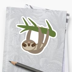 Cute sloth upside down by EkaterinaP