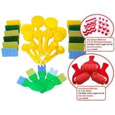 Eduplay, Mega Kreativ Set 33-teilig, Pinsel Set für Kindergarten und Schule | 800414