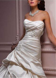 ELEGANT EXQUISITE SATIN A-LINE SCOOP NECKLINE WEDDING DRESS LACE BRIDESMAID PARTY COCKTAIL GOWN FORMAL BRIDAL PROM CUSTOM