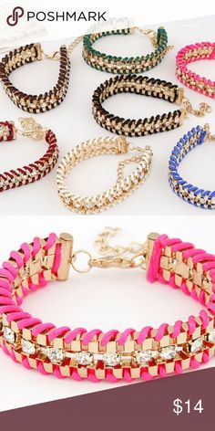 Chain Rope Bracelet 2016 New Fashion Colorful Gold Plated Rope Bracelet. Length : 7.5 inch. Hand made ❤️️  ❌ No offers Jewelry Bracelets