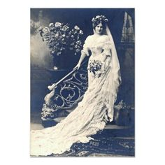 Wedding Photos Real Photo Postcard Bride - These are 8 Free Old Wedding Photos, depicting Brides and Grooms from Victorian times to the Such a great collection of Antique Photos! Classic Wedding Dress, Wedding Dress Styles, Wedding Gowns, Bridal Gown, Wedding Shot, Timeless Wedding, Wedding Dj, Trendy Wedding, Perfect Wedding