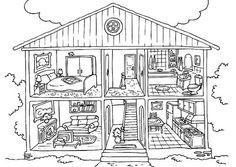 Dibujos de Casas para Imprimir y Colorear Dibujo de casa Páginas para colorear para imprimir Páginas para colorear para niños