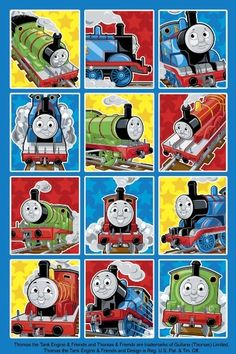These Thomas the Tank Engine Stickers have 12 different images of Thomas and his friends on each sheet. You get 2 sheets of Thomas & Friends stickers. Ther