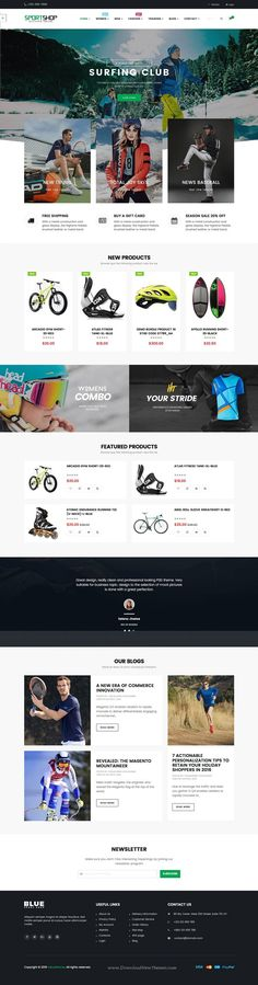 Ves Sportshop #Magento 2 Responsive Template has 4 stunning layouts for #sports eCommerce #website. Download Now!