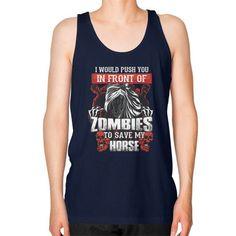 Save my horse Unisex Fine Jersey Tank (on man)