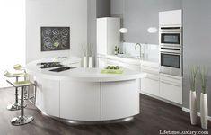 Modern Luxury Kitchen with half moon island
