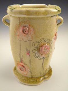 Jennifer Mecca - Porcelain vase, yellow