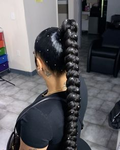 Black Girl Braided Hairstyles, Natural Afro Hairstyles, Box Braids Hairstyles, Natural Hair Styles, Long Hair Styles, Hair Ponytail Styles, Sleek Ponytail, Hair Inspo, Hair Inspiration
