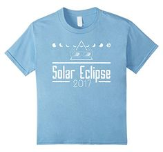 f47dad9a Kids Total Solar Eclipse Glasses Shirt August 21 2017 T Shirt 4 Baby Blue --