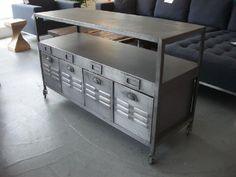 "Millhouse Table. $1595. 51""L x 18""W x 31""H."