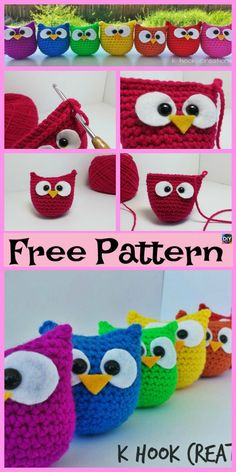 12 Cutest Crochet Amigurumi Owl Free Patterns - DIY 4 EVER Everyone loves owls, and they are one of our favorite animals! So why not learn how to make a adorable Crochet Amigurumi Owl for your child Owl Crochet Pattern Free, Crochet Owls, Easter Crochet, Cute Crochet, Crochet Animals, Crochet Crafts, Yarn Crafts, Crochet Baby, Crochet Projects