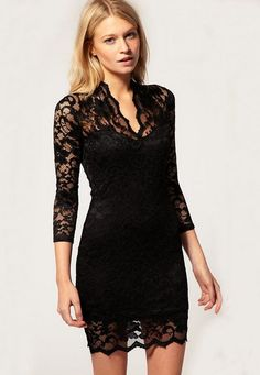 New Arrival Fashion High Quality Slim Sexy Night Out Lace Dress