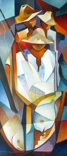 Damião martins (cuban artist) century art in 2019 искусство, пейзаж ка Cubist Art, Abstract Art, Cubist Paintings, Pop Art, African Paintings, Sketch Painting, American Art, Modern Art, Art Projects