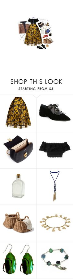 """sunshine on my shoulders"" by snowinseptember ❤ liked on Polyvore featuring Delpozo, Garance Doré, Prada, Chloé, Alexander McQueen and Coccinelle"