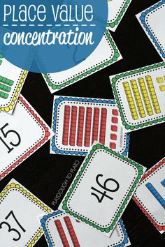 Value Concentration FREE Place Value Concentration. Fun, hands-on way to teach kids about two-digit numbers.FREE Place Value Concentration. Fun, hands-on way to teach kids about two-digit numbers. Fun Math, Math Games, Math Activities, Base Ten Activities, Place Value Activities, Kids Math, Kids Fun, Math Place Value, Place Values