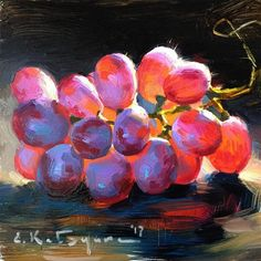 "Daily+Paintworks+-+""Sonera+Seedless""+-+Original+Fine+Art+for+Sale+-+©+Elena+Katsyura"
