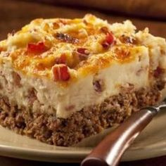 Cowboy Meatloaf and Potatoes Casserole