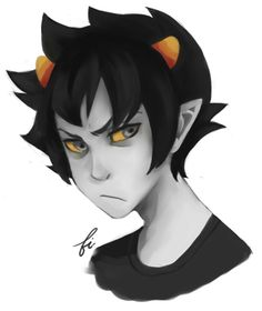 Angry Karkat. What else would he be? But he has the cutest grumpy face