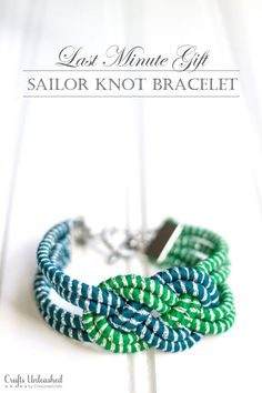 Last Minute Gift Idea: Sailor Knot Bracelet DIY