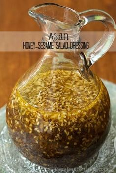 Asian Honey-Sesame Salad Dressing - Incredibly delicious, this dressing goes so well with a myriad of salad ingredients. It's not only a salad dressing but this also makes an amazing drizzling sauce for grilled chicken, shrimp, pork or beef.