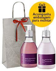 Presente Natura Ekos Açaí - Sabonete Líquido para Mãos + Polpa Hidratante para Mãos + Embalagem Desmontada