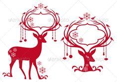 Christmas Frames with Reindeer