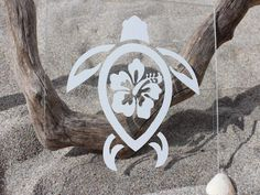 Show your true loyalty and commitment to the ocean and sea turtles with our Hibiscus Flower Devocean Sea Turtle vinyl. Despite their beauty Hibiscus flowers hav
