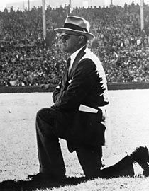 George Halas: Player, coach, owner and pioneer in professional American football. He was the iconic founder and owner of the Chicago Bears.