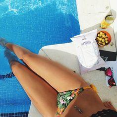 Relax! #surania #bikini #tropical #orange #summer #pool #fashion #swimwear @belenfortes  www.surania.com