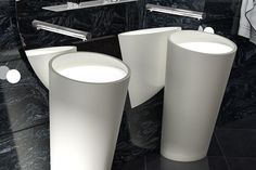 With clean lines and an elegant shallow surface, the Corian Ultraplane offers a striking and luxurious alternative to a standard wall basin or floor pedestal – a sophisticated feature for any modern bathroom, powder room or washroom.