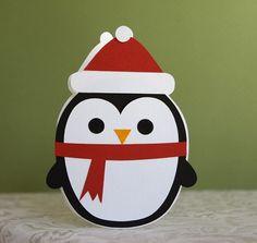 Penguin Shaped Card