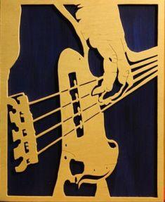 Jazz Painting, Illustrations, Illustration Art, Music Drawings, Guitar Art, Scroll Saw Patterns, Silhouette Art, Stencil Art, Artist Art