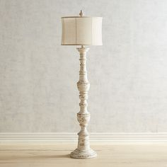 Ashton Whitewashed Floor Lamp