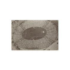 Football Stadium. Vintage 1970s Sports Art Print. Black and White Photography, Modern, Contemporary, Team. Ready to Frame. (No. 79). $10.00, via Etsy.