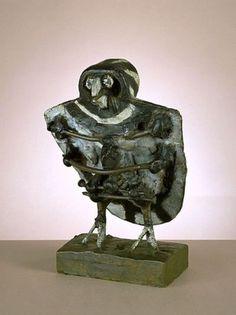 Little Owl - Pablo Picasso, 1951-52. Painted Bronze.