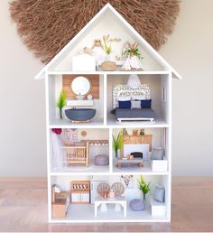 Because everything looks cuter in mini. You can find our mini prints exclusively at 💕 Mini Doll House, Barbie Doll House, Miniature Houses, Miniature Dolls, Doll House Plans, Barbie Furniture, Modern Dollhouse Furniture, Diy Dollhouse, Bookshelf Dollhouse