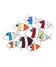 Colorful Fish Metal Wall Hanging #zulilyfinds