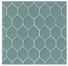 La Palma Glass Mosaic Tile in Blue by Grayson Martin