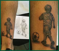 Soccer lovers                                                                                                                                                                                 Mais Life Tattoos, Body Art Tattoos, New Tattoos, Sleeve Tattoos, Tattoos For Guys, Cool Tattoos, I Tattoo, Tattoo Futbol, Soccer Tattoos