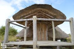 The Celts built their roundhouses from the natural materials available on the land. The roundhouses at Felin Uchaf are built in the same way using only the natural materials available on or near the land. Find out how to build one on www.naturalhomes.org
