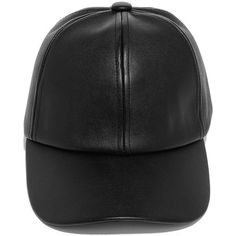 Perfect Weekend Black Vegan Leather Baseball Cap ($18) ❤ liked on Polyvore featuring accessories, hats, black, adjustable baseball caps, faux leather baseball cap, adjustable hats, round hat and velcro hat