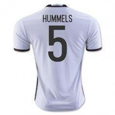Tyskland 2016 Hummels 5 Hemmatröja Kortärmad