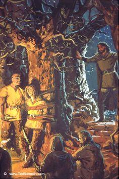 Túrin Returns to Find Beleg Being Held Captive ~ Ted Nasmith.